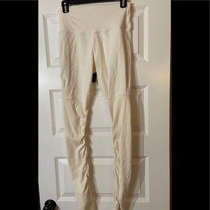 Alo cream yoga pants leggings- L